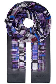 ARMANI COLLEZIONI Graphic print scarf
