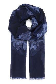 ARMANI COLLEZIONI Floral embroidered silk scarf