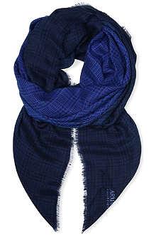 ARMANI COLLEZIONI Checked ombré scarf