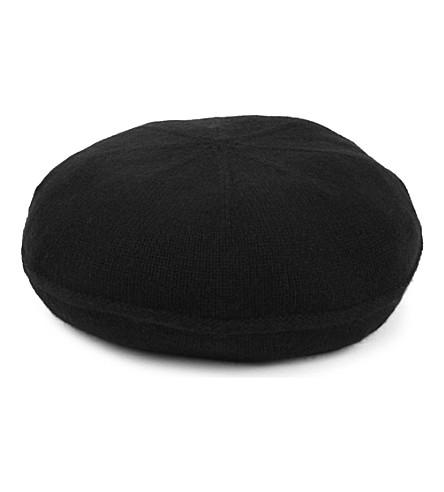 ARMANI COLLEZIONI Classic cash beret (Black