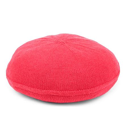 ARMANI COLLEZIONI Classic cash beret hat (Coral