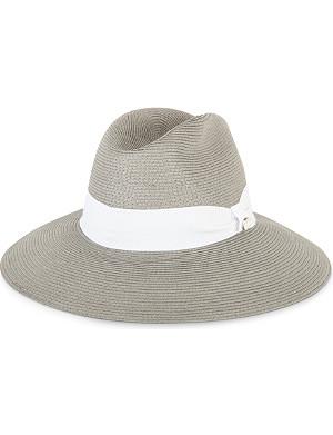 ARMANI COLLEZIONI Wide-brimmed straw hat