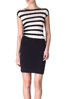 ARMANI COLLEZIONI Knitted striped dress