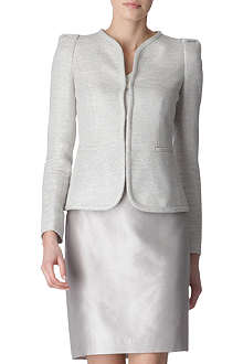ARMANI COLLEZIONI Metallic weave tweed jacket