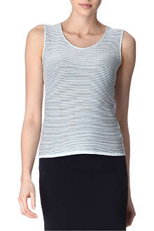 ARMANI COLLEZIONI Sleeveless knitted top