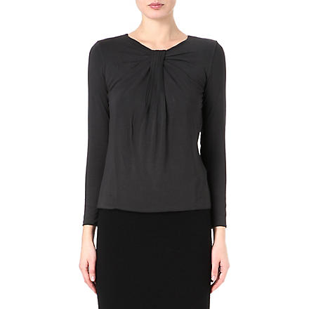 ARMANI COLLEZIONI Ruching detail top (Black