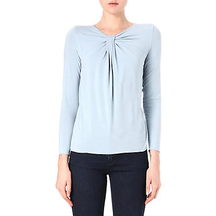 ARMANI COLLEZIONI Ruching detail top (Grey
