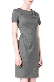 ARMANI COLLEZIONI Wool-blend shift dress