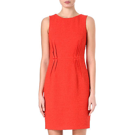 ARMANI COLLEZIONI Sleeveless boucle darts dress (Red
