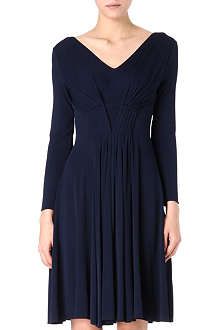 ARMANI COLLEZIONI Pleated-front dress