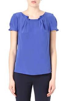 ARMANI COLLEZIONI Pleated silk top