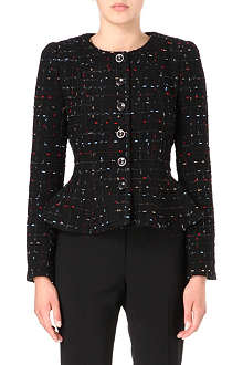 ARMANI COLLEZIONI Multicoloured-tweed peplum jacket