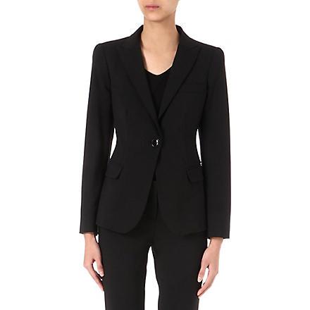 ARMANI COLLEZIONI Classic wool blazer (Black