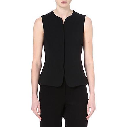ARMANI COLLEZIONI Wool-blend waistcoat (Black