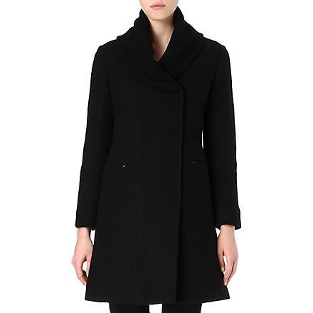 ARMANI COLLEZIONI Shawl-collar quilted coat (Black
