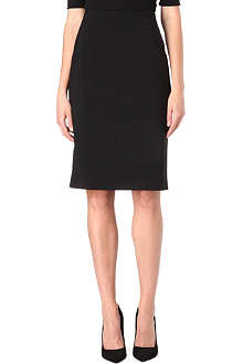 ARMANI COLLEZIONI Stretch-wool pencil skirt