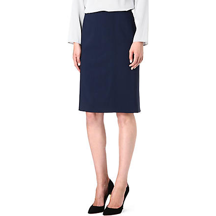 ARMANI COLLEZIONI Wool pencil skirt (Navy