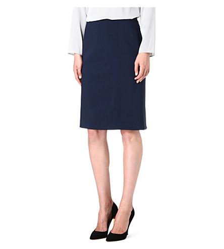 ARMANI COLLEZIONI Wool pencil skirt (Navy