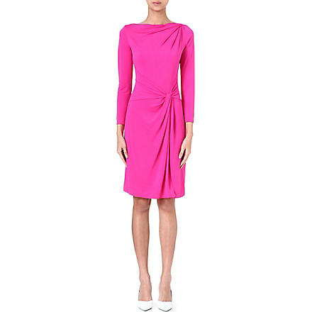 ARMANI COLLEZIONI Twist-detail jersey dress (Pink