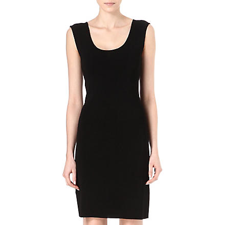 ARMANI COLLEZIONI Sleeveless shift dress (Black