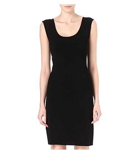 ARMANI COLLEZIONI Sleeveless shift dress (Black