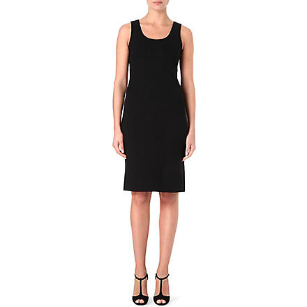 ARMANI COLLEZIONI Classic scoop-neck dress (Black