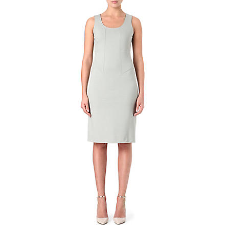 ARMANI COLLEZIONI Classic scoop-neck dress (Grey