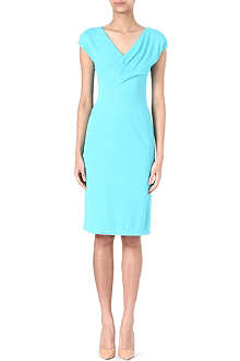 ARMANI COLLEZIONI Pleated v-neck dress
