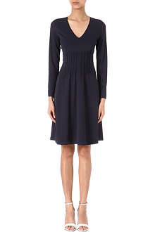 ARMANI COLLEZIONI Pleat-detail jersey dress