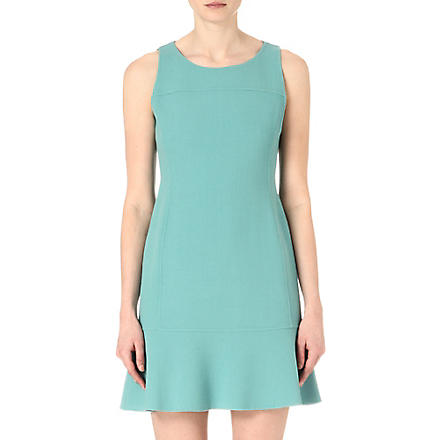 ARMANI COLLEZIONI Wool-crepe peplum dress (Mint