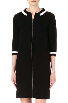 ARMANI COLLEZIONI Zip-through crepe dress