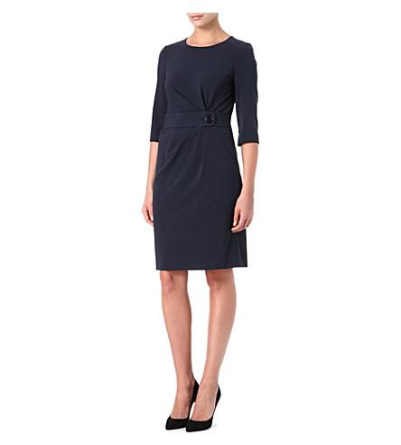 ARMANI COLLEZIONI Belted shift dress (Navy