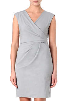 ARMANI COLLEZIONI Ruched v-neck dress