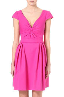 ARMANI COLLEZIONI Fit-and-flare twist-detail dress