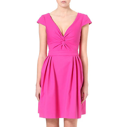 ARMANI COLLEZIONI Fit-and-flare twist-detail dress (Pink