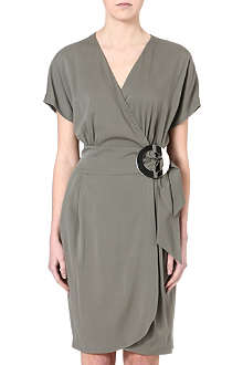 ARMANI COLLEZIONI Silk-blend wrap dress