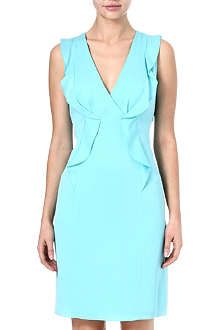 ARMANI COLLEZIONI Ruffle silk-blend dress