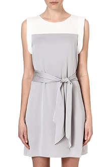ARMANI COLLEZIONI Two-tone silk dress