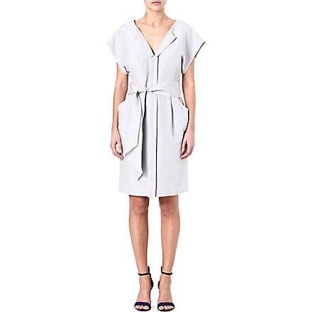 ARMANI COLLEZIONI Linen belted dress (Silver