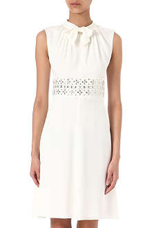 ARMANI COLLEZIONI Jewelled silk-blend dress