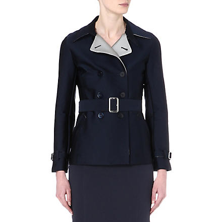 ARMANI COLLEZIONI Double-breasted trench coat (Navy