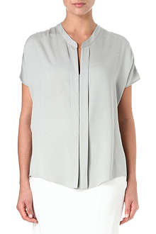 ARMANI COLLEZIONI Stretch-silk split detail top