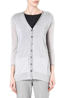 ARMANI COLLEZIONI Long button-up cardigan