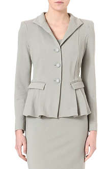 ARMANI COLLEZIONI Single-breasted jersey jacket