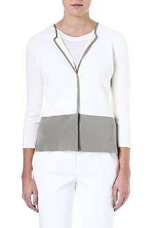 ARMANI COLLEZIONI Colour-block knitted cardigan