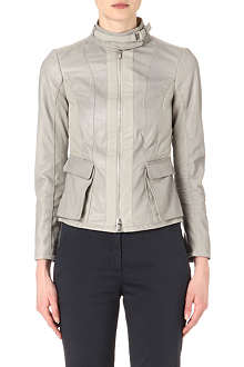 ARMANI COLLEZIONI Leather biker jacket
