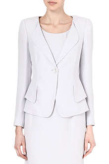 ARMANI COLLEZIONI Single-breasted crepe peplum jacket