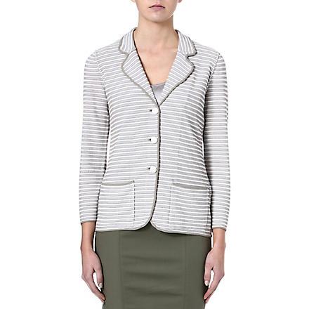 ARMANI COLLEZIONI Striped blazer (White/beige