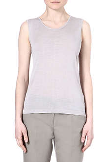 ARMANI COLLEZIONI Sleeveless silk-blend top