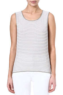 ARMANI COLLEZIONI Knitted striped top